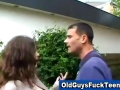 old lad blow job by hawt younger honey