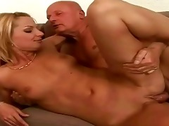 favourable older man enjoying sexy sex with legal