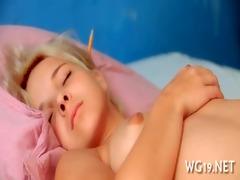 angel fondles soaked slit