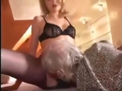blond nicole and aged guy