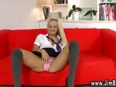 hot schoolgirl in nylons and hot heels
