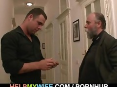despairing spouse pays a dude to fuck his wife