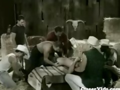 twinks barn group-sex