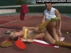 juvenile daughter drilled hard