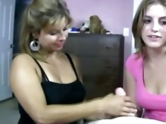 cougar tells daughter how to jack schlong in the