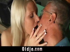 oldman blessed with a juvenile muff for fuck