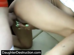 cute young legal age teenager daughter screwed