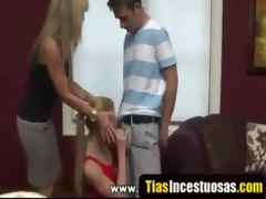breasty cougar and teen wish pounder for desert -