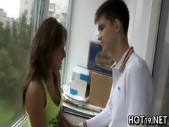 bawdy cleft of cutie drilled wild