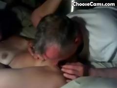 grand-dad giving grandma great oral sex
