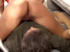 playgirl blond arse licking with oldman