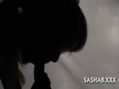 close-up footage of blow job job
