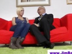 golden-haired in nylons and old guy