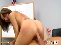 big guy drills schoolgirl