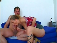 lustful chick gives sexually excited dad
