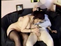 distinguished old grand-dad getting three-some
