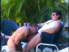 muscled dad bears enjoying sleazy outdoor wang